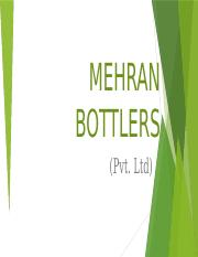 MEHRAN BOTTLERS PVT. LTD.