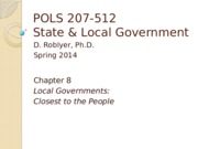 POLS 207 Sp2015 Chpt 8 (Roblyer, no narration) ise this pmr