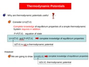 Thermodynamic Potentials