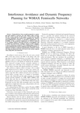 Interference Avoidance and Dynamic Frequency Planning for WiMAX Fem to cells Networks