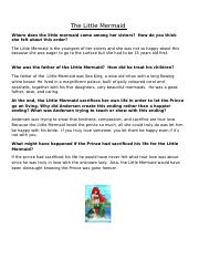 The Little Mermaid Questions Week 3 (1).doc
