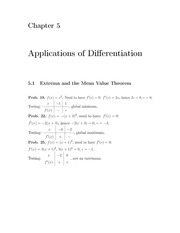 Homework+Solutions on Applications of Differentiation