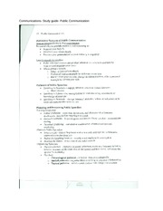 Communications- Study guide- Public Communication