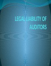 Lecture 4LEGAL LIABILITY of auditors