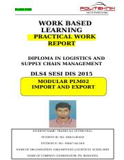 Practical Work Report THANES (IMPORT AND EXPORT).doc