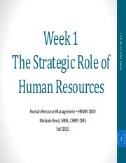 Week 1 - The Strategic Role of Human Resources.pdf