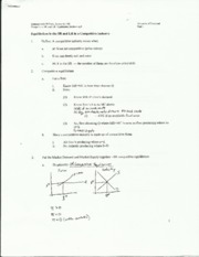 Econ Theory Equilibrium SR LR Notes
