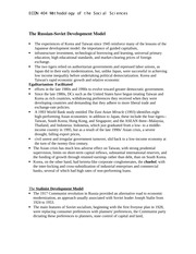 ECON 404 lecture notes on The Russian-Soviet Development Model