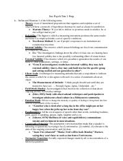 Soc Psych Test 1 Complete Study Guide