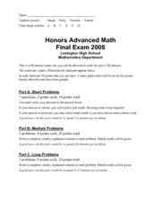 advmath-hon-finalexam2008-answers