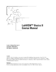 Labview Basics II soures Mannual