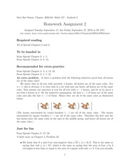 Mat 157- Homework Assignment 2