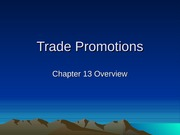 Chapter 13 - Trade Promotions