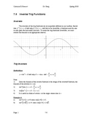 Calculus II Notes 7.6