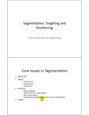 Session 2 Segmentation Targeting Positioning COMPLETE