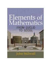 Elements of Mathematics_ From Euclid to Gödel (2016) by John Stillwell