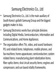 Samsung Electronics Co.pptx