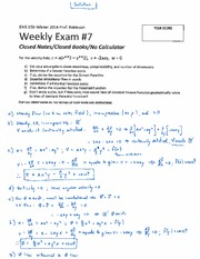 ENG 103 Winter 2014 SKR Weekly Exam 7 Solution