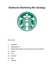 starbucks marketing plan executive summary