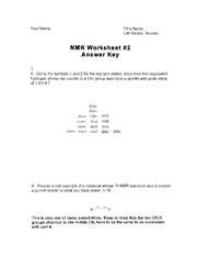 answer key NMR 2