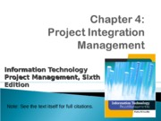 ch04-Project Integration