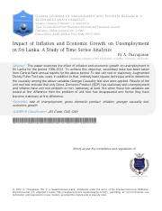 Impact of Inflation and Economic Growth on Unemployment