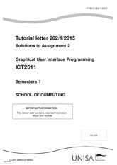 solution to Assignment  2202_2015_1_b