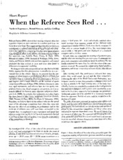 Ref Sees Red