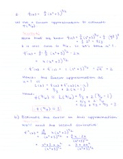 MATH 184 Linear Approximation Example Notes