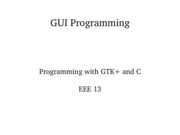 Lecture 3 - GUI Programming I