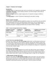 407 Business Unit Strategies
