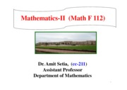 Chapter 2 and Chapter 3,  Mathematics-II, dated 23.01.2015