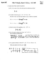 Midterm Exam 1 Fall 2008 Solutions