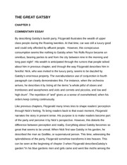 the great gatsby commentary chapter 1 essay