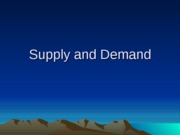 FCS 226 Chapter 2 Supply & Demand