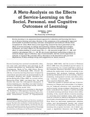 A Meta-Analysis on the Effects of Service-Learning.pdf
