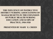The Influence of Instructive District Nursing Associations of