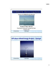 Lecture 4A - Wind Energy Devices