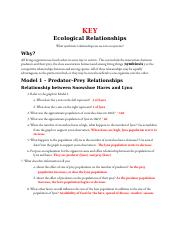 Ecological Relationship answers.pdf - Ecological ...