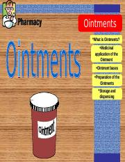 OINTMENTS.ppt