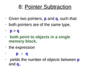 Pointer Subtraction