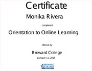 Monika Rivera-Orientation to Online Learning