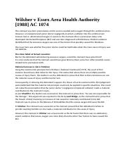 Wilsher v Essex Area Health Authority.docx