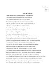 Macbeth Poem