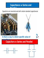 Unit 12 a capacitance in Series and Parallel