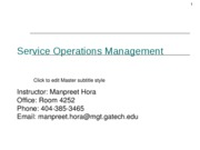 Service ops mgt Week5_Session1_Services Management