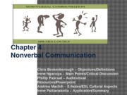 Chapter 4 - Nonverbal Communication
