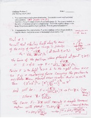 Challenge Problem Session 2 Solution on General Physics