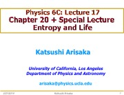 Arisaka_6C_Lec17_Entropy and Life