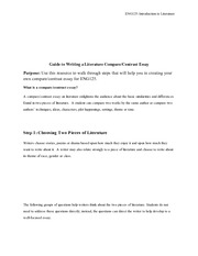 ashford eng 121 compare and contrast essay Compare and contrast essay argument: to begin, it is necessary to identify  the argument here what makes this paper argumentative.